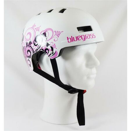Bluegrass Dirt Helm Super Bold weiß/pink
