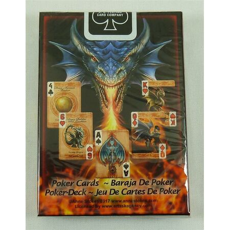 Bicycle Playing Cards Age of Dragons by Anne Strokes