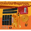 Slackline Pocketline Travel-Set 13m - Webster und Maroon USA